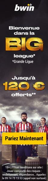 Bwin paris sportifs 120€ paris gratuits bonus