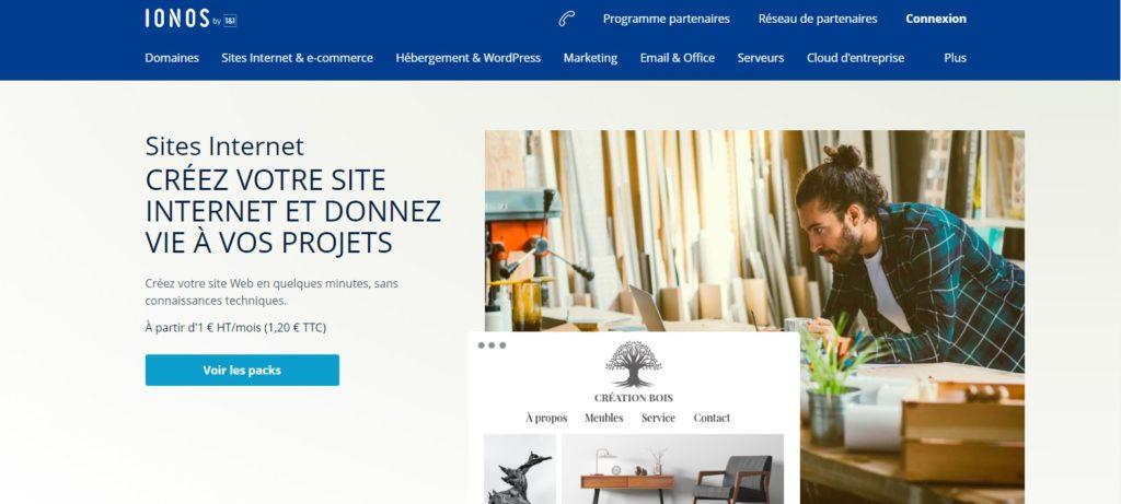 Créer un site internet facilement avec IONOS