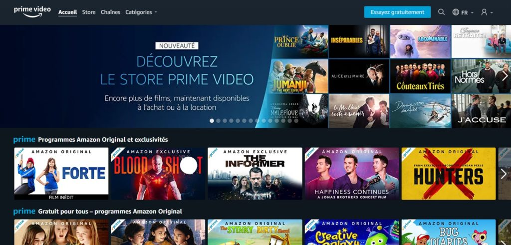Amazon Prime Video le site de streaming comme alternative à netflix