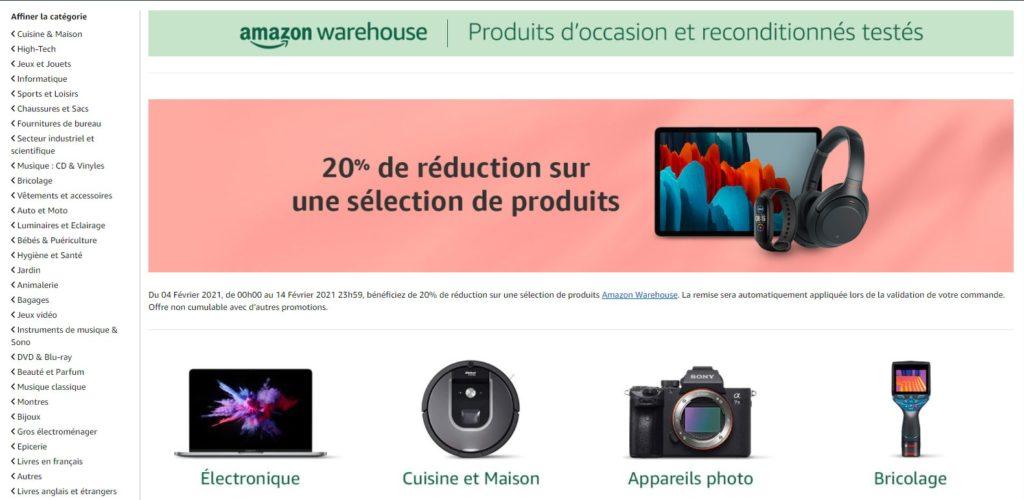 Amazon fait partie des meilleurs sites de produits reconditionnés