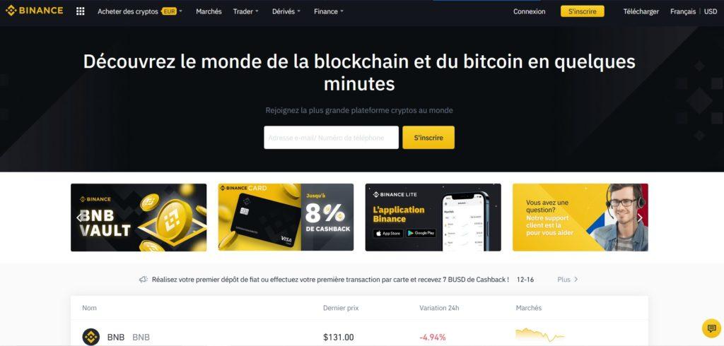 Binance fait partie des meilleurs sites pour acheter du Bitcoin