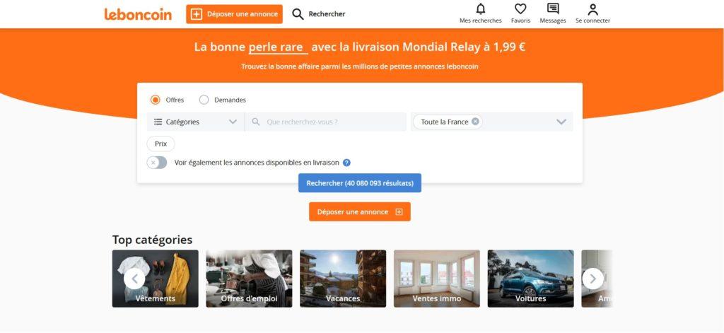 Leboncoin fait partie des meilleurs sites de ventes en ligne de petites annonces