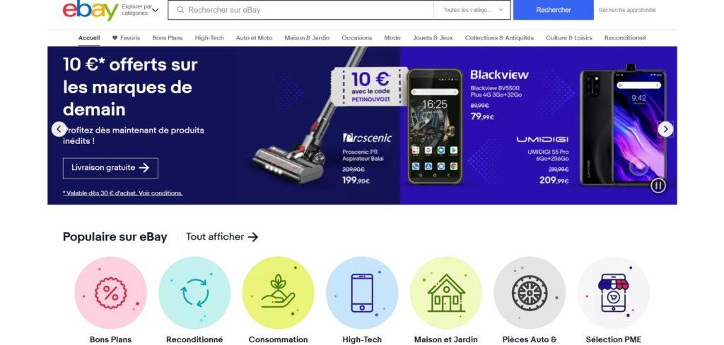 eBay fait partie des meilleurs sites de ventes en ligne et de ventes aux enchères