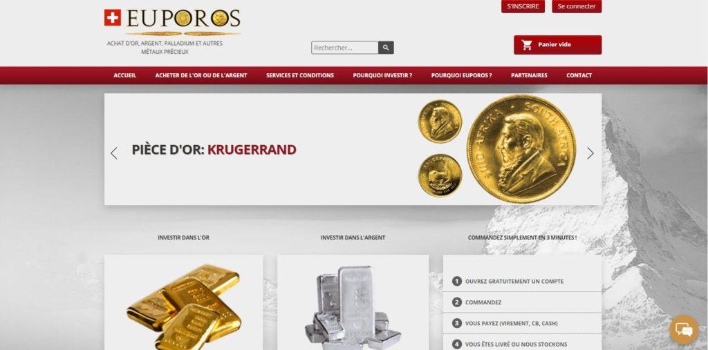 Europos.ch est l'un des meilleurs sites pour acheter de l'or en Suisse