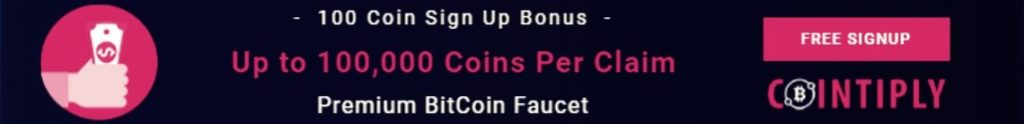 Cointiply faucet bitcoin faucethub banner