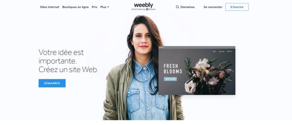 Créer un site internet avec Weebly