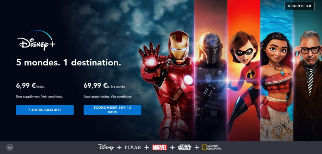 Disney+ le site comme alternative à Netflix