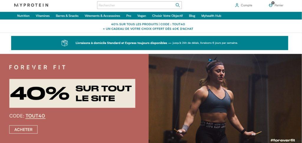 MYPROTEIN meilleures boutique en ligne de nutrition sportive