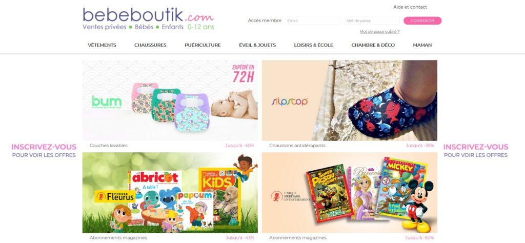 Bébéboutik est un meilleurs sites de vente privée en 2020