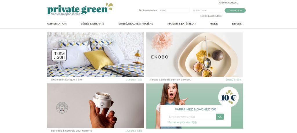Private-Green fait partie des meilleurs sites de vente privée