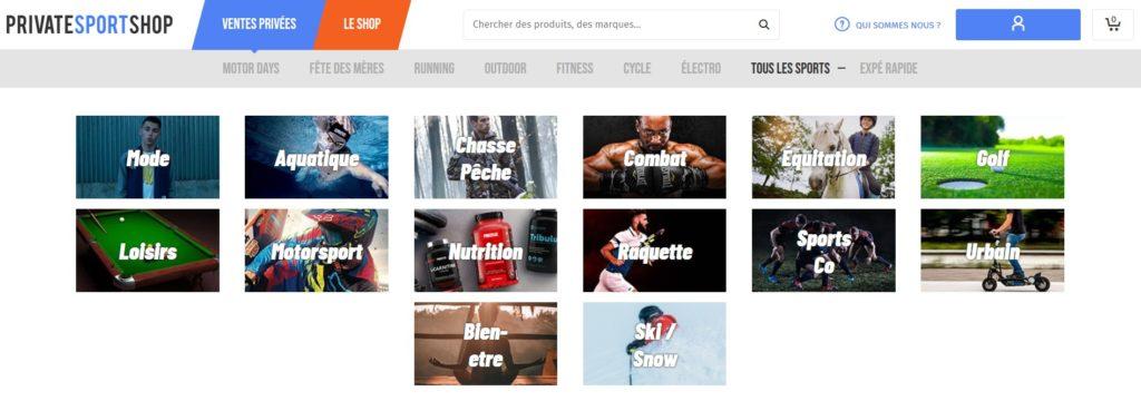 PrivateSportShop fait partie des meilleurs sites de vente privée en 2020
