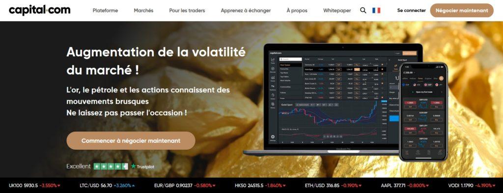 Capital.com fait partie des meilleurs sites pour acheter des actions