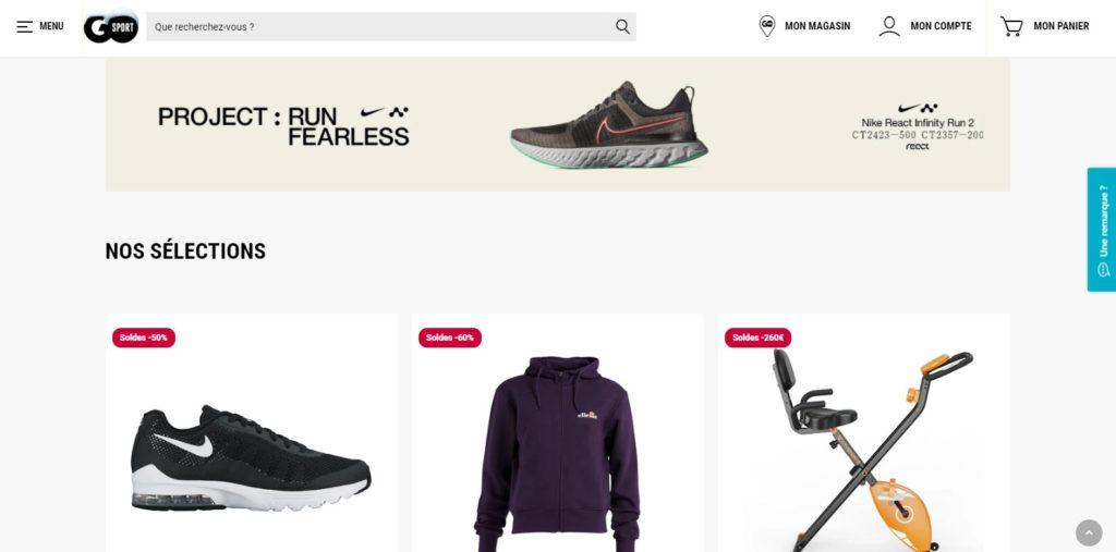 Go Sport fait partie des meilleurs magasins de sport en ligne