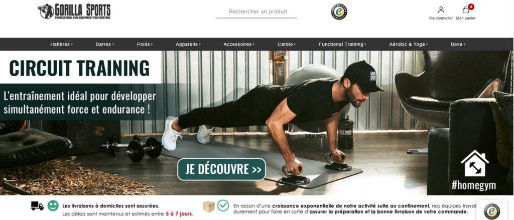 Gorilla Sports fait partie des meilleurs magasins de sport en ligne