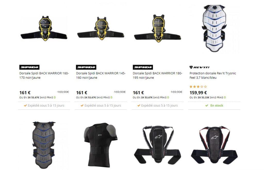 La dorsale fait partie des équipements et accessoires indispensable pour motard pour la sécurité en moto