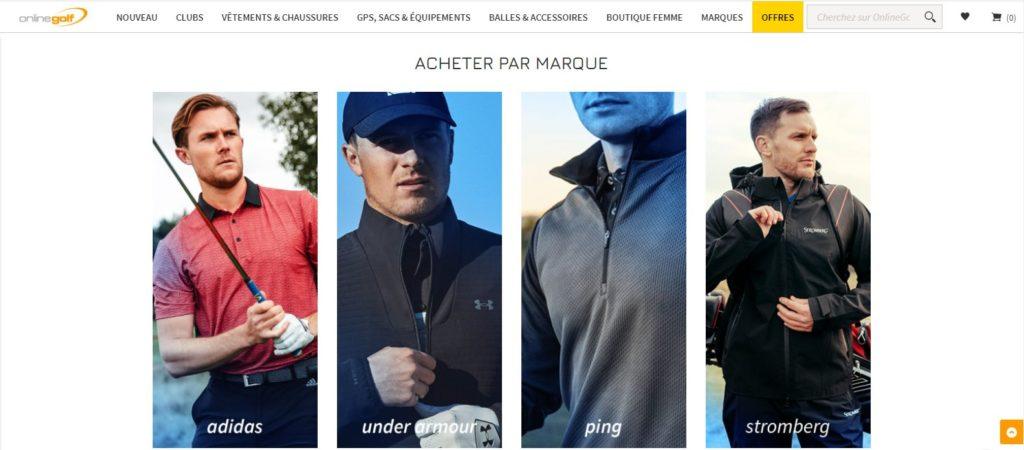 Online Golf magasin de golf