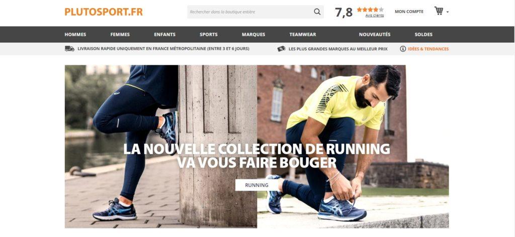 Plutosport est une boutique de sport en ligne