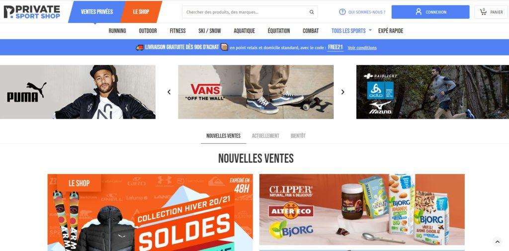 Private Sport Shop fait partie des meilleurs magasins de sport en ligne