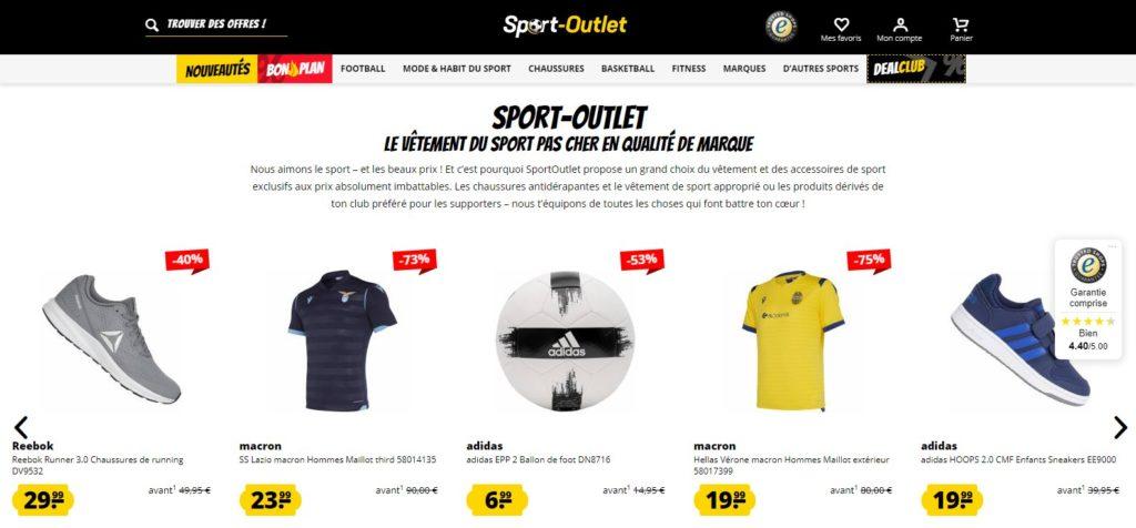 Sport Outlet fait partie des meilleurs magasins de sport en ligne