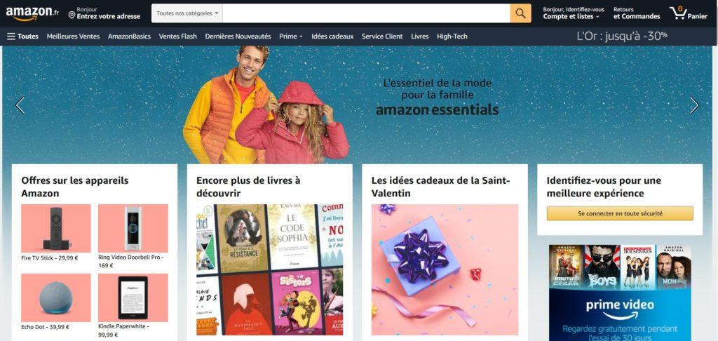 Amazon fait partie des meilleurs sites de ventes en ligne et achats en ligne