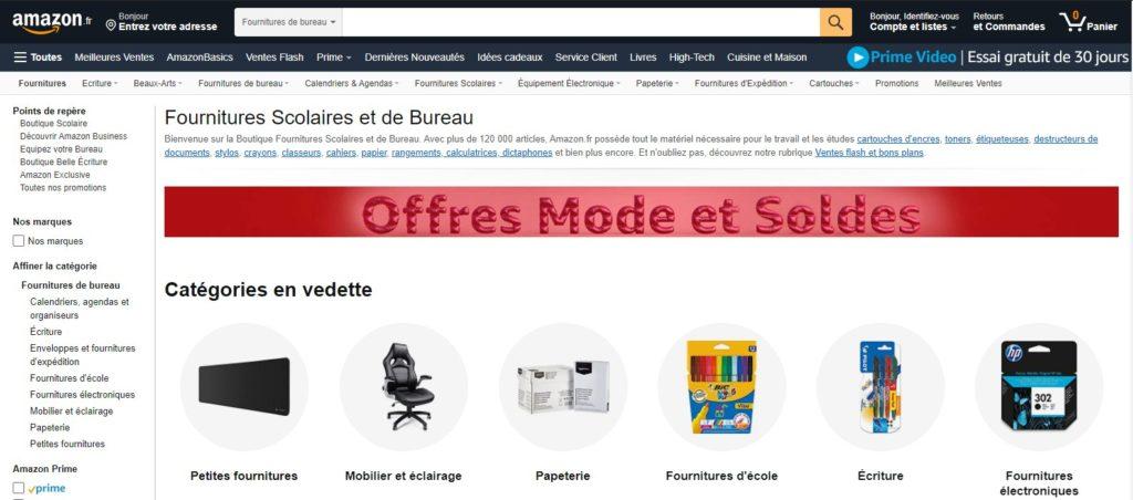 Amazon fait partie des meilleurs sites de fournitures de bureau