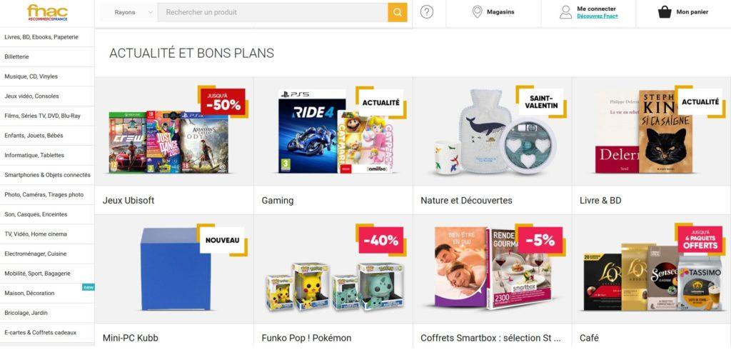 La Fnac fait partie des meilleurs sites de ventes en ligne de produits high tech