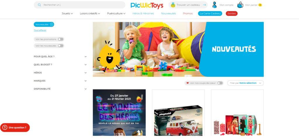 PicWicToys fait partie des meilleurs sites de ventes en ligne de jouets pour enfants et des meilleurs sites pour acheter en ligne des jouets et loisirs enfants