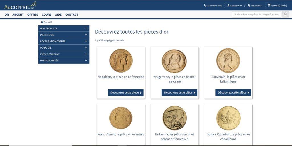 Au Coffre fait partie des meilleurs sites pour acheter de l'or physique en ligne