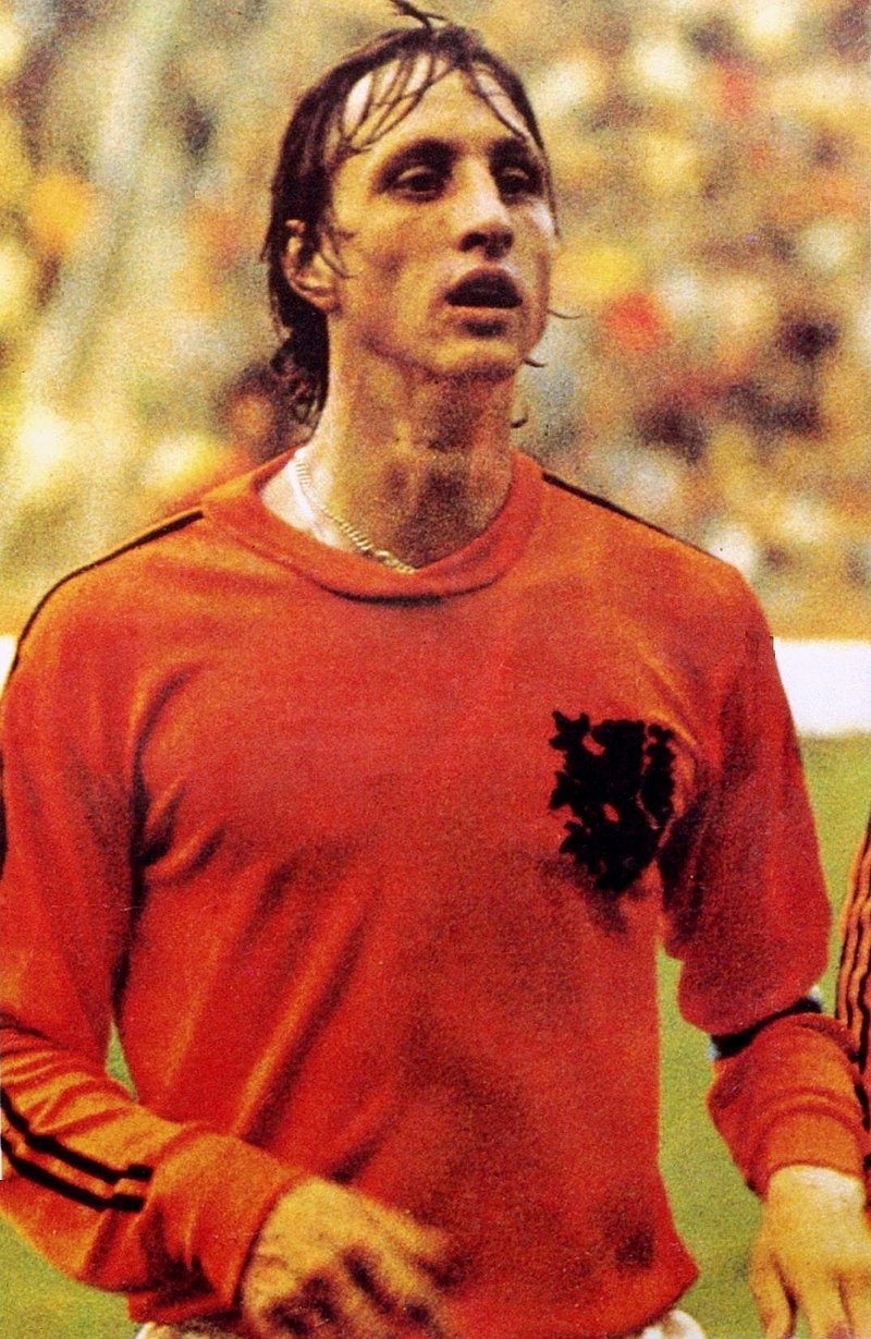 Johan Cruyff fait partie des meilleurs joueurs hollandais de tous les temps Top 10 Pays Bas