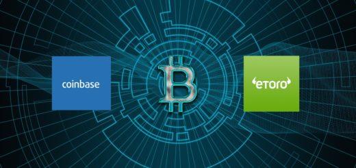 Coinbase ou eToro, Coinbase vs eToro, Coinbase versus eToro, Coinase eToro comparatif crypto bitcoin