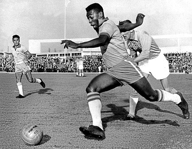 Pelé fait partie des meilleurs buteurs de l'histoire de la coupe du monde