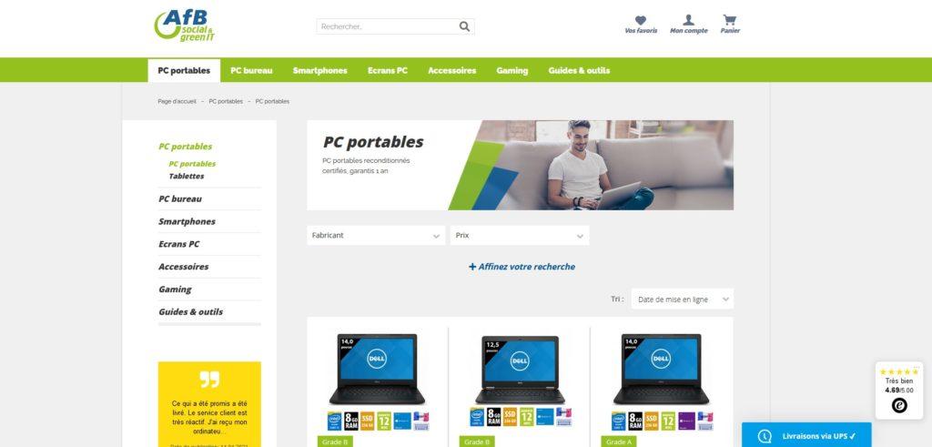 AfB Shop fait partie des meilleurs sites pour acheter un ordinateur portable ou de bureau, Comparatif des meilleurs sites pour achter un PC portable