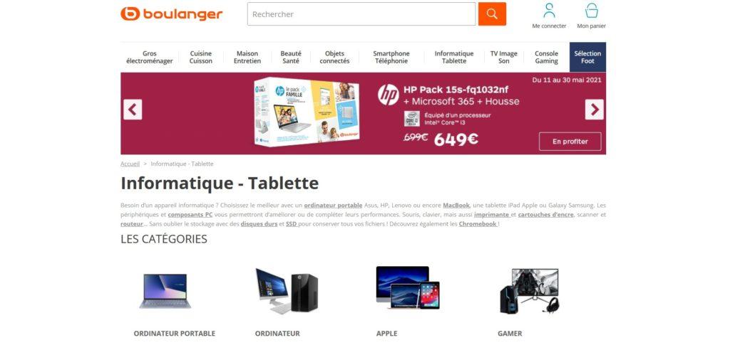 Boulanger fait partie des meilleurs sites pour acheter un ordinateur