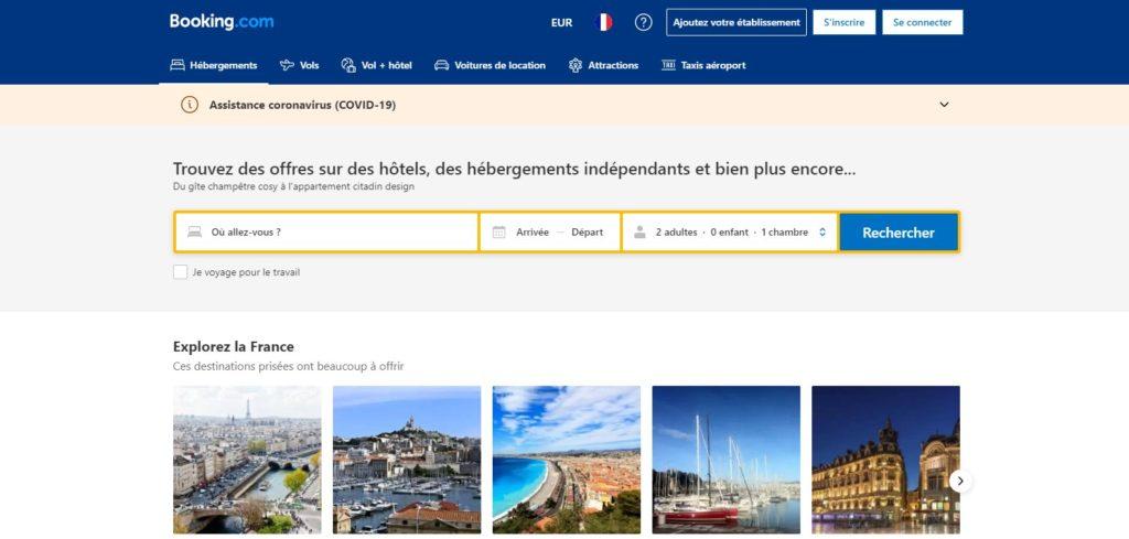 Booking fait partie des meilleurs sites de réservation d'hôtel et des meilleurs sites de réservation d'hébergement