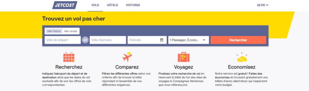 Jetcost fait partie des meilleurs comparateurs de vols en ligne