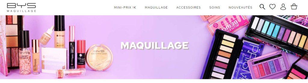 Meilleurs sites pour acheter du maquillage : BYS Maquillage