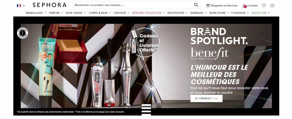 Meilleurs sites pour acheter du maquillage : Sephora