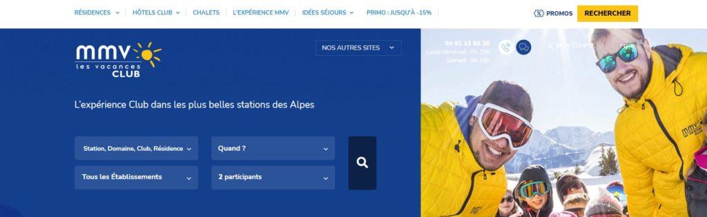 Meilleurs sites de réservation de vacances au ski : MMV.fr
