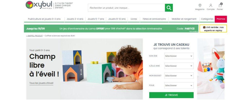 Meilleurs magasins de jouets en ligne : Oxybul