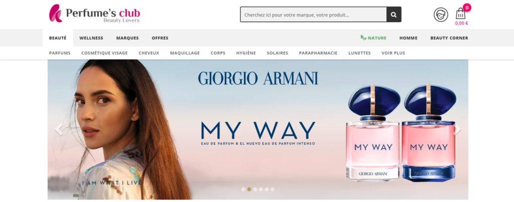 Meilleurs sites pour acheter du parfum : Perfume's Club
