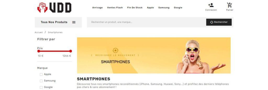 Vente du Diable fait partie des meilleurs sites pour acheter un smartphone en ligne